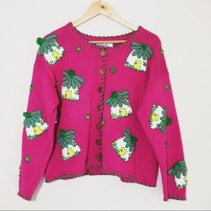 Lilly Pulitzer Knitted Pink Cardigan
